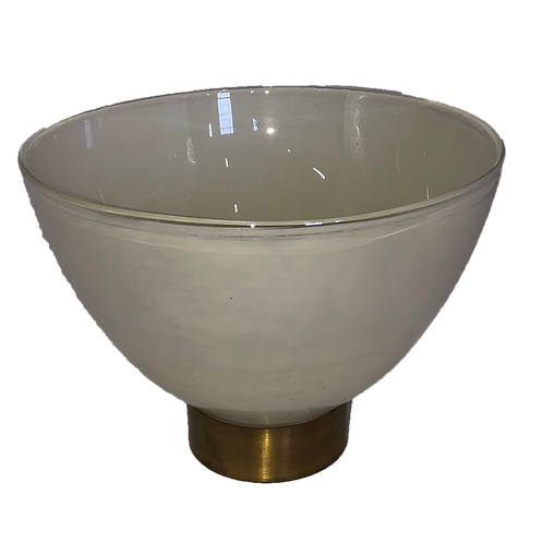 Pearl Bowl - White & Gold