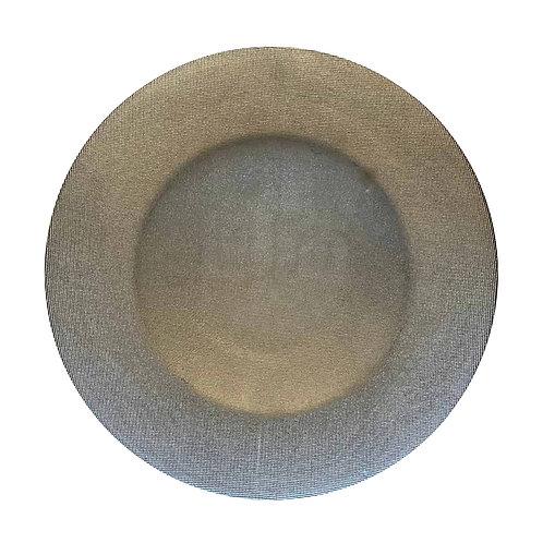 Glass Underplate - Silver/Grey