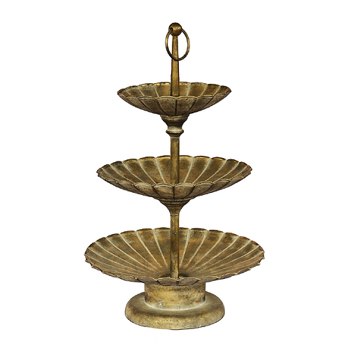 Three-Tiered Fruit Stand -Old Gold