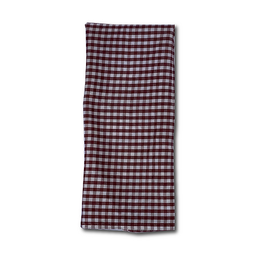 Linen Napkin - Brown Check