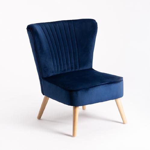 Babette Velvet Chair - Blue