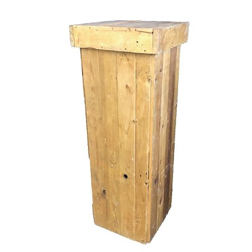 Raw Wood Plinth