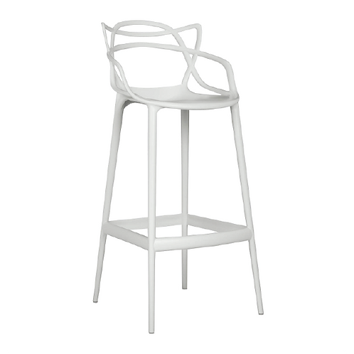 Masters Bar Chair - White