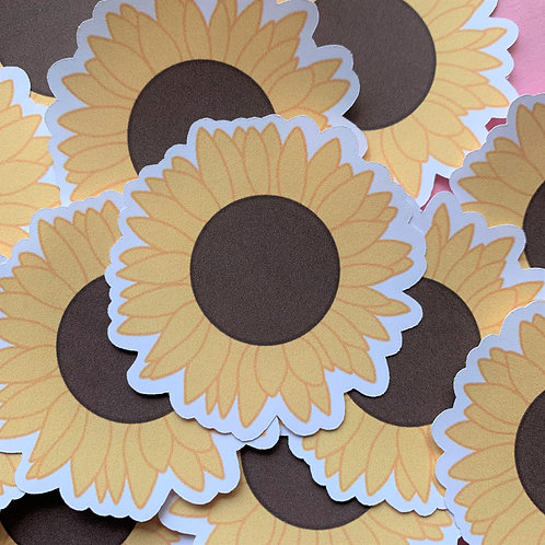 Matte Sunflower Die Cut Sticker