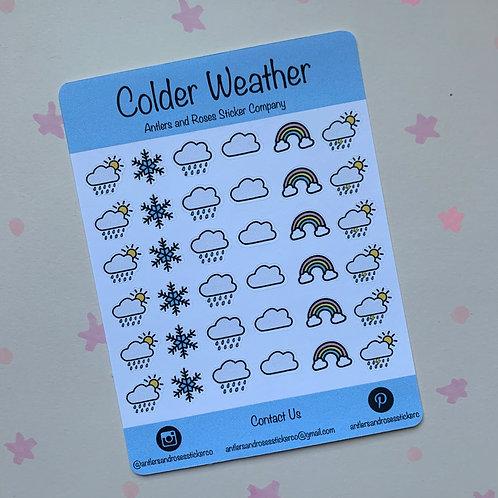Matte Colder Weather Sticker Sheet
