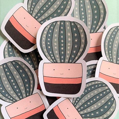 Pink Happy Cactus Die Cut Sticke (2).jpg