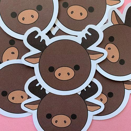 Matte Moose Die Cut Sticker