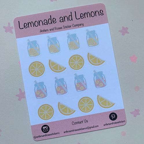 Matte Lemonade and Lemons Sticker Sheet