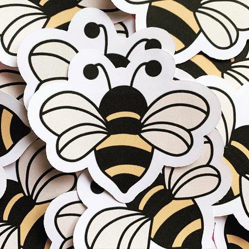 Matte Bumble Bee Die Cut Sticker