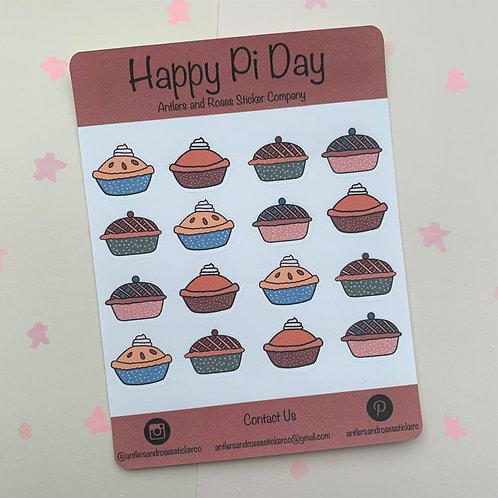 Matte Happy Pi Day Sticker Sheet