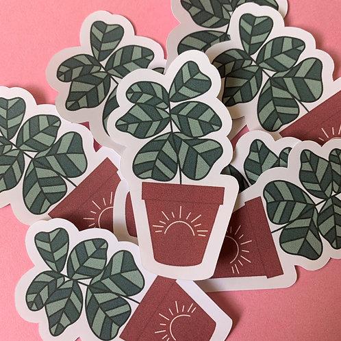 Matte Potted Plant Die Cut Sticker