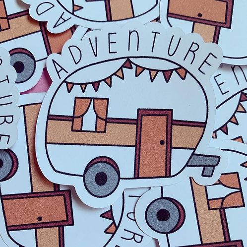 Matte Adventure Die Cut Sticker