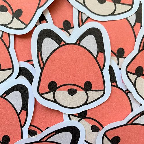 Matte Clever Fox Die Cut Sticker