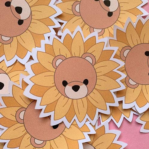Matte Jazzy Sun Bear Die Cut Sticker