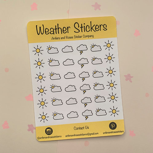 Matte Weather Sticker Sheet