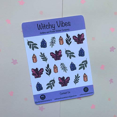 Matte Witchy Vibes Sticker Sheet