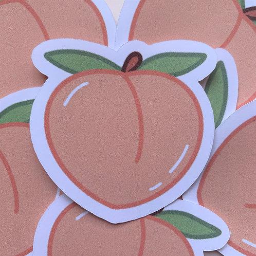 Matte Just Peachy Die Cut Sticker