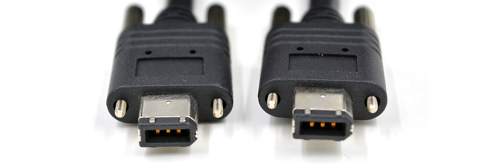 High flex IEEE 1394 A to A male 6pin with screw lock cable