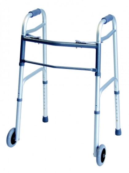 "Lumex Everyday Dual Release Walker with 5"" Wheels, Junior"
