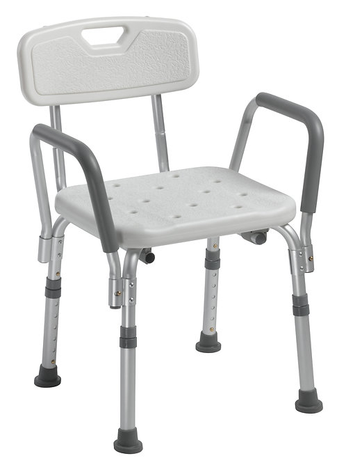 Drive Shower Chair with Back and Removable Padded Arms