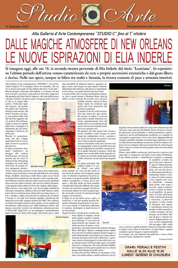 Il Foglio dell'Arte di Luciano Carini,