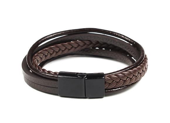 Triple Leather Black & Brown