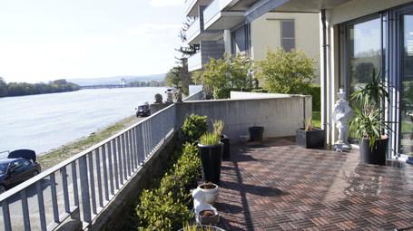 Garten-Wohnung am Rheinufer von Wiesbaden-Biebrich