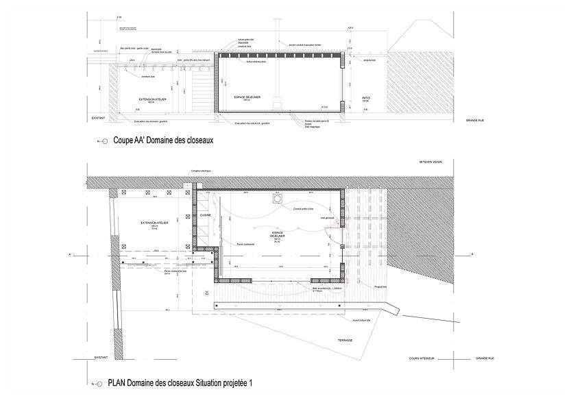 Plan SCI des Closeaux+ coupe AA' 26_04_1