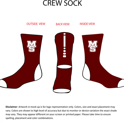 MS Football Team Sock