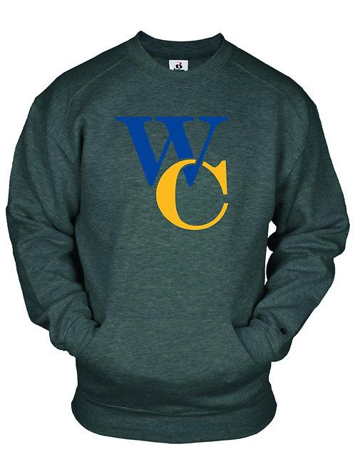 Badger Pocket Crew Sweatshirt