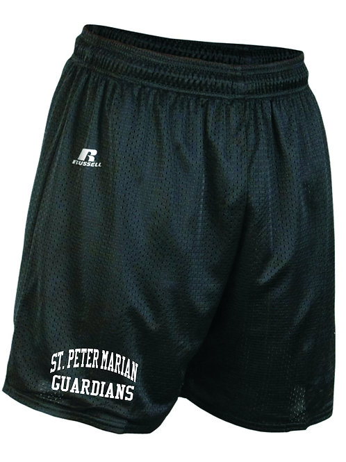 "RUSSELL ATHLETIC MEN'S 9"" POLYESTER TRICOT MESH SHORTS"