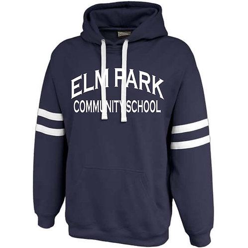 Pennant  twin-streak hoodie