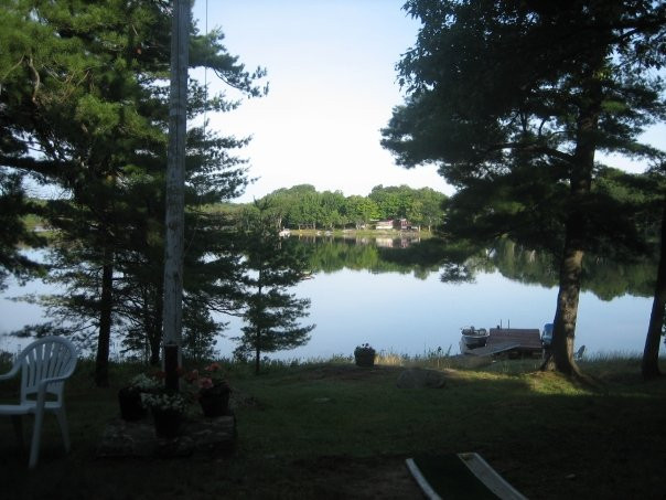 View from the front porch of my family cottage