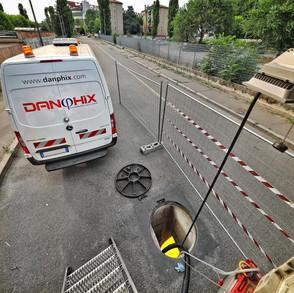 Riabilitazione di condotte fognarie ovoidali DN800/1200 con tecnologia CIPP UV, a Milano.