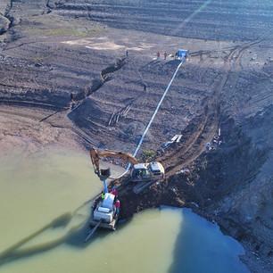 Riabilitazione dello scarico DN700 di una diga in Albania.