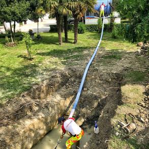 Riabilitazione di 6,5 km di acquedotto in cemento amianto.