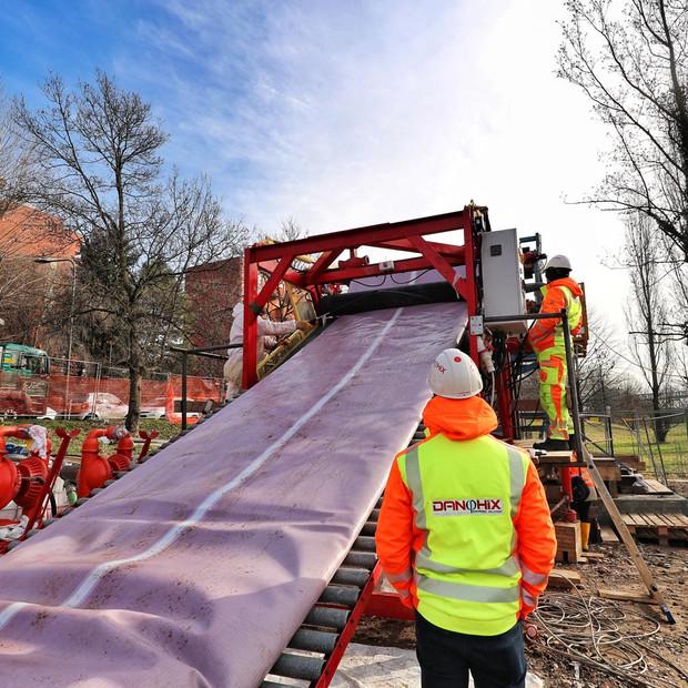 Riabilitazione di acquedotto DN1200 PN10 a Milano.