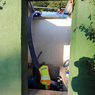 Riabilitazione di acquedotto in ghisa DN350 PN20 con unico inserimento di 1.200 m.