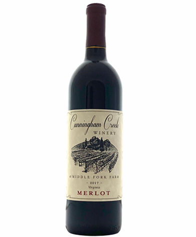 Merlot cunningham creek winery