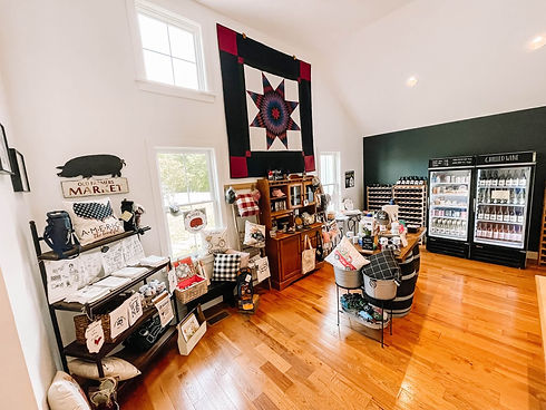 cunningham creek winery  farm store. Shop with  many gift items on display