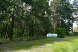 Wald hinter Grundstück