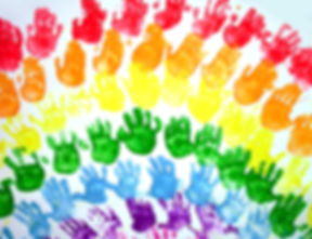rainbow painting of school children's pa