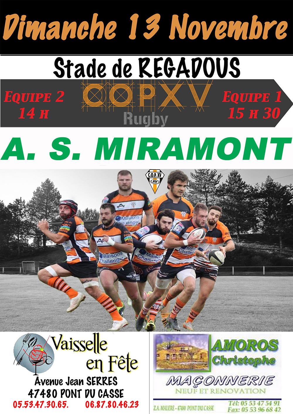 L'affiche  COPXV - A.S. MIRAMONT