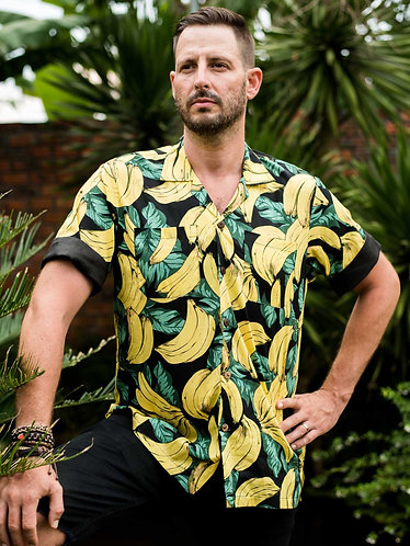 Mens Banana Hawaiian Festival Shirt