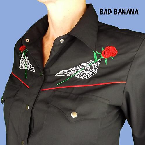Women's Western Halloween Shirt - Rose - Size 10