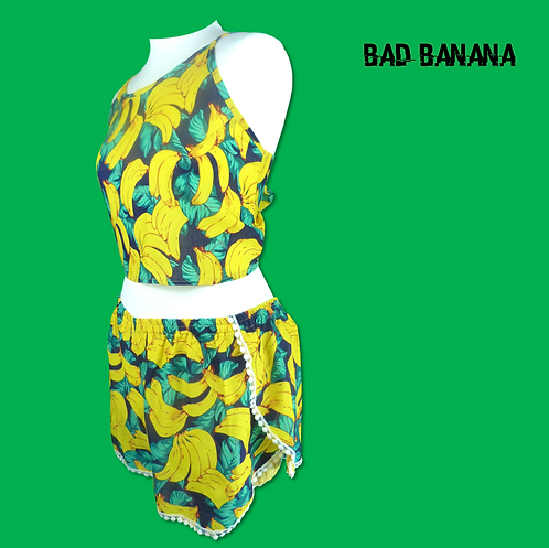 Womens Banana Rave Outfit  - Without Hat