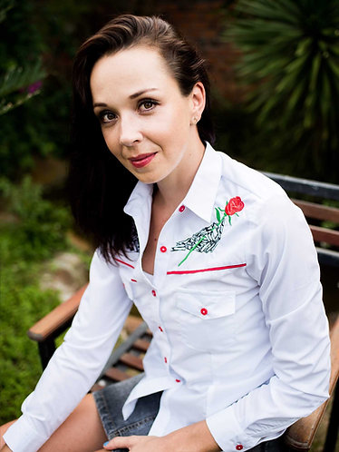 Women's Western Festival Shirt - Rose - Size 10