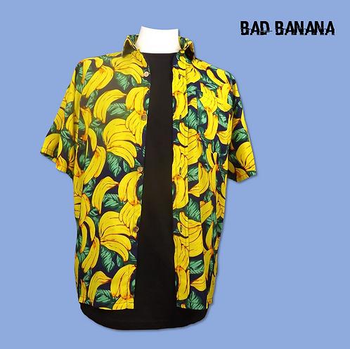 Mens Lightweight Banana Hawaiian Shirt