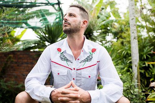 Mens Western 'Rose Hand' Shirt