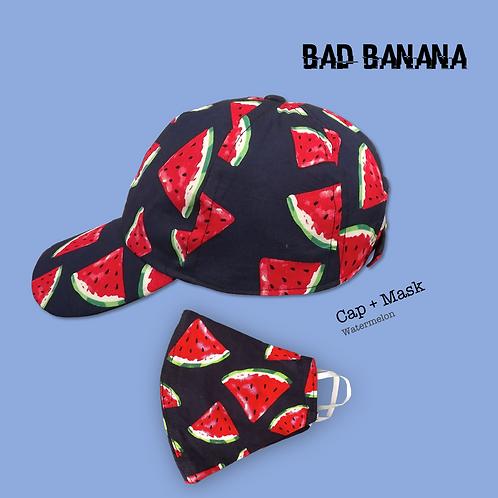 Fruity Baseball Cap + Mask - Watermelon